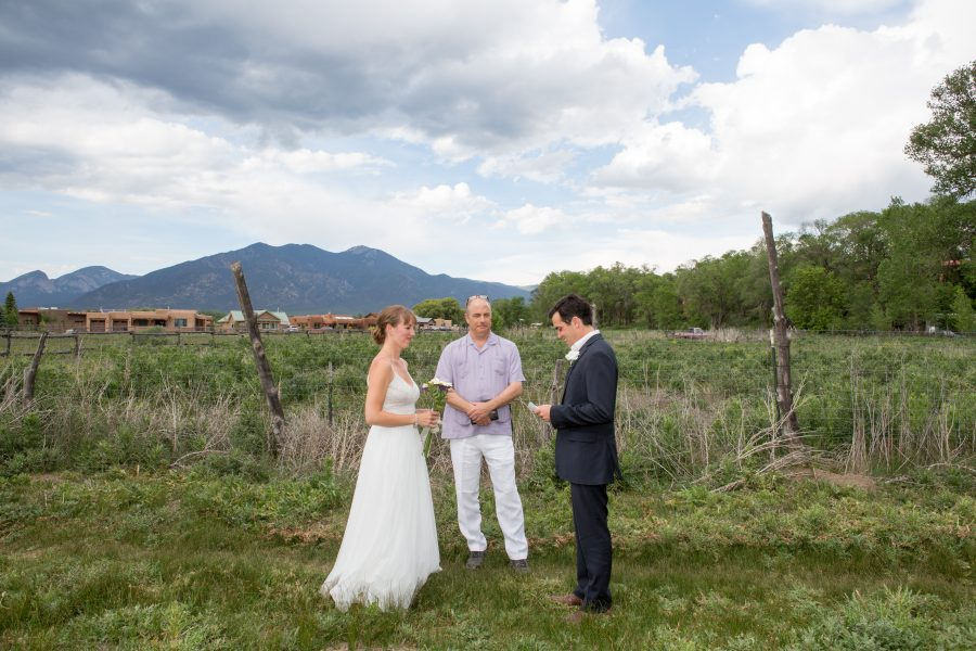 Destination Wedding and Elopement Wedding Ceremony in Town of Taos