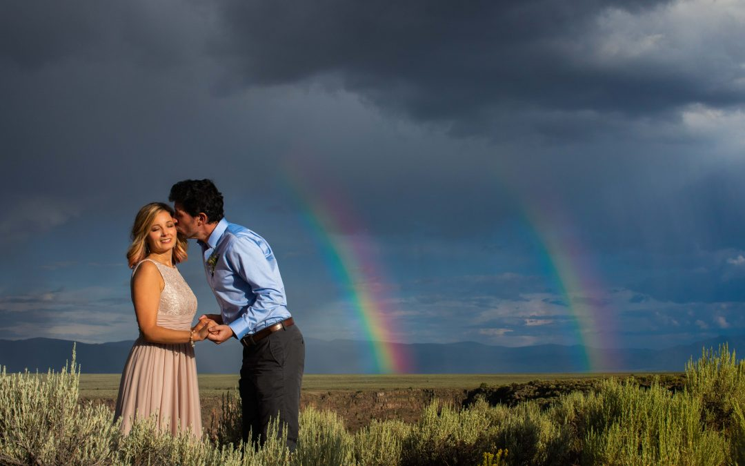 Double Rainbow Wedding in Taos