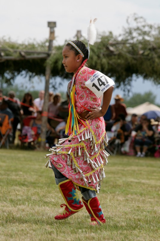 Dancing child at Taos Pueblo powwow