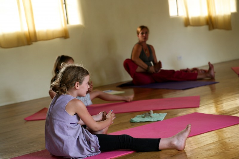 free kids yoga at taos shree