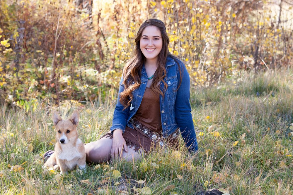 A Girl, Her Horses, and Her Dog