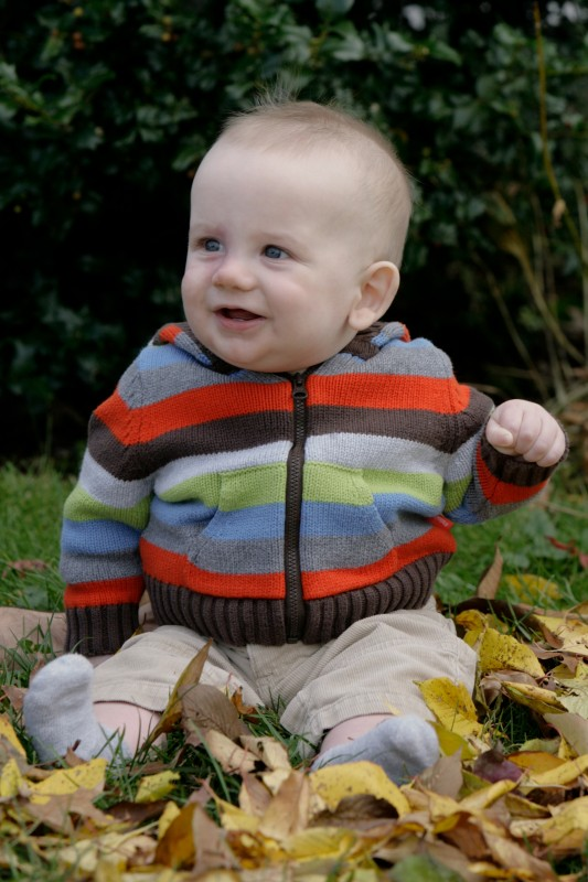 autumn photo shoot for baby
