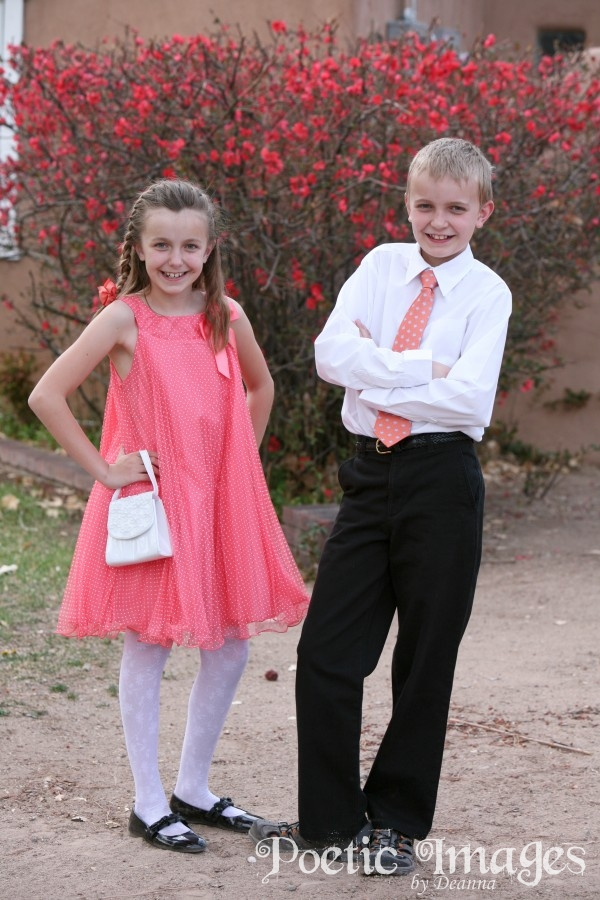 Pink Easter Dress and Tie