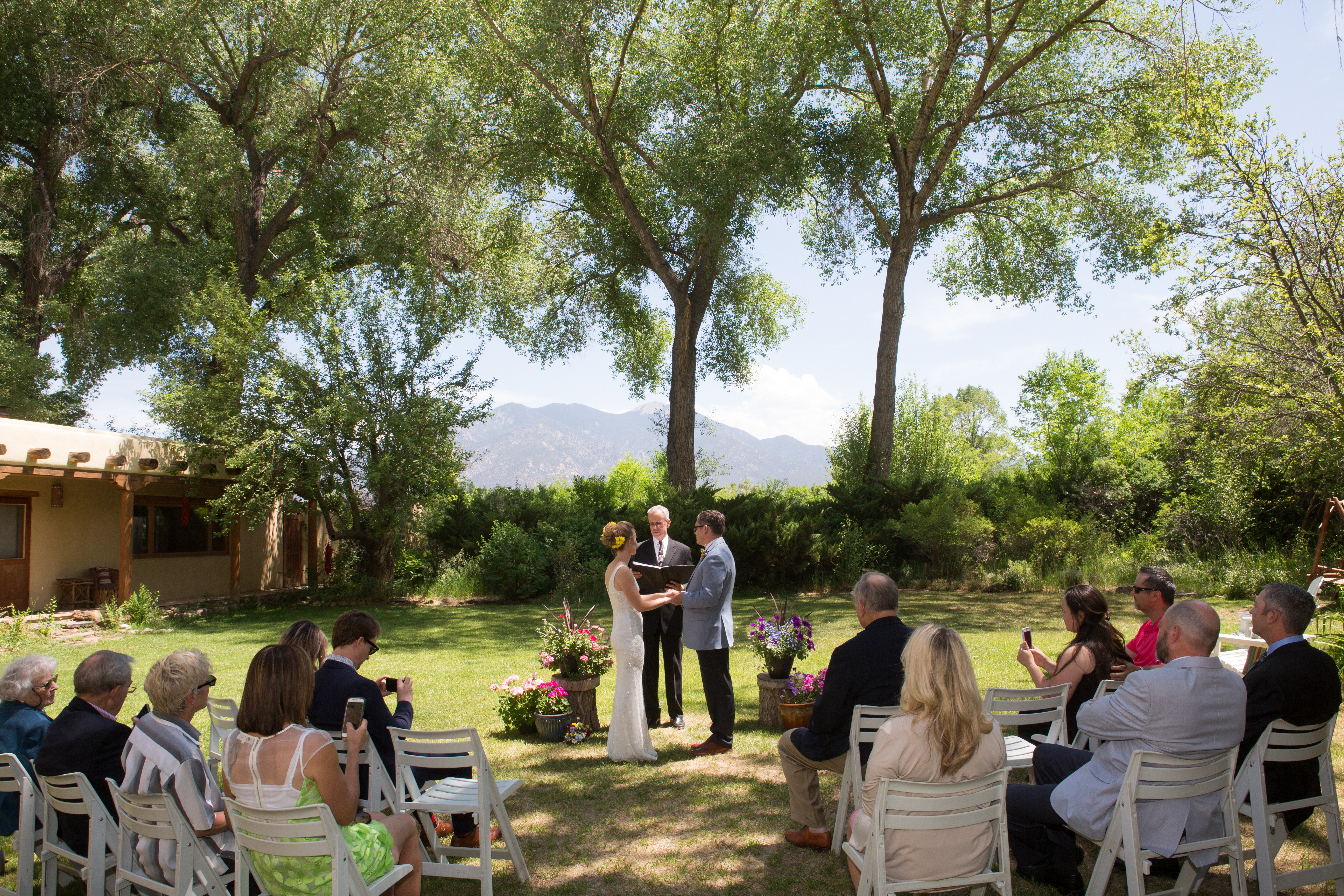 Small Outdoor Wedding at Taos Bed and Breakfast