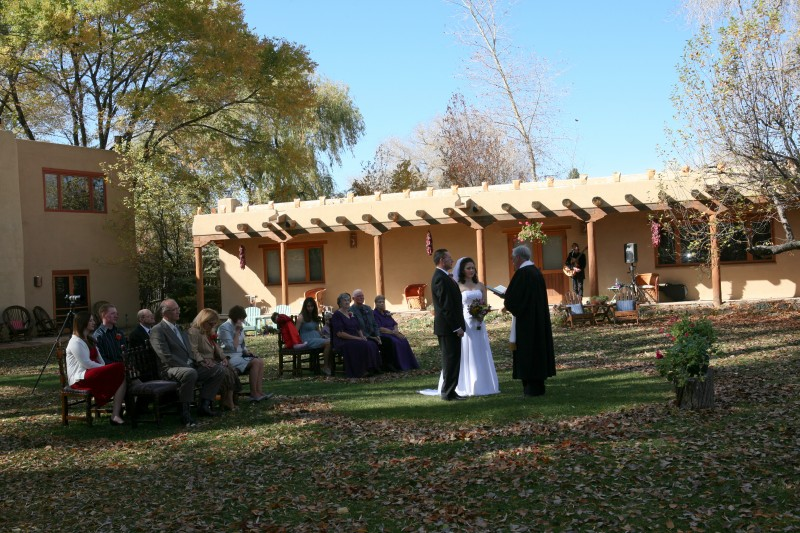 small outdoor wedding ceremony