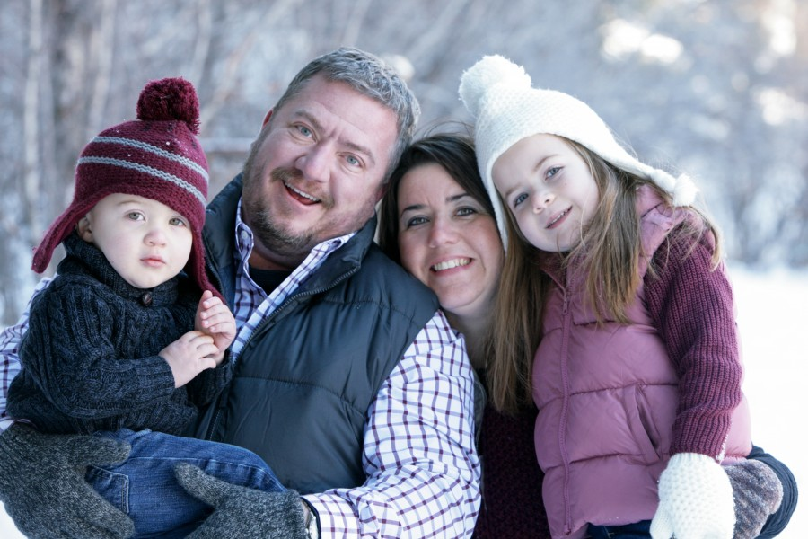 Red River Family Photographs in the Snow
