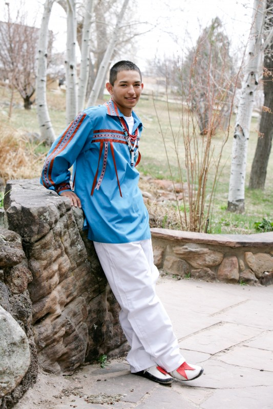 senior photography of Native American kids