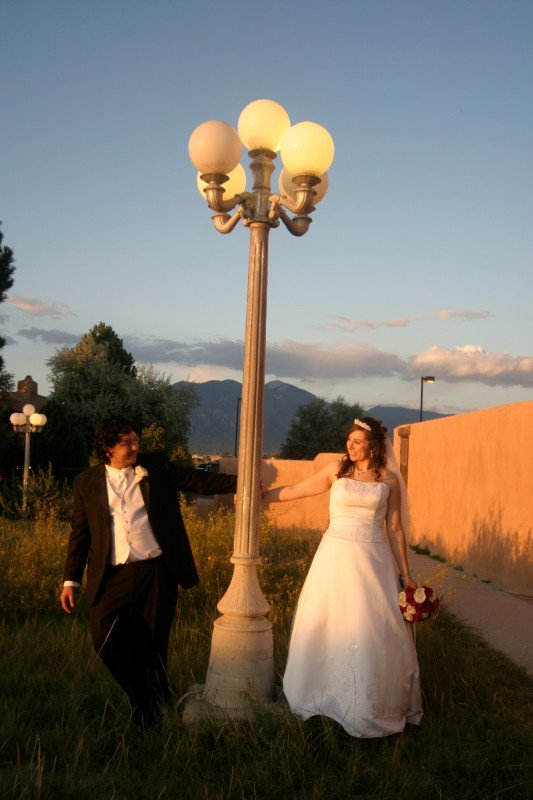 large wedding reception for taos couple