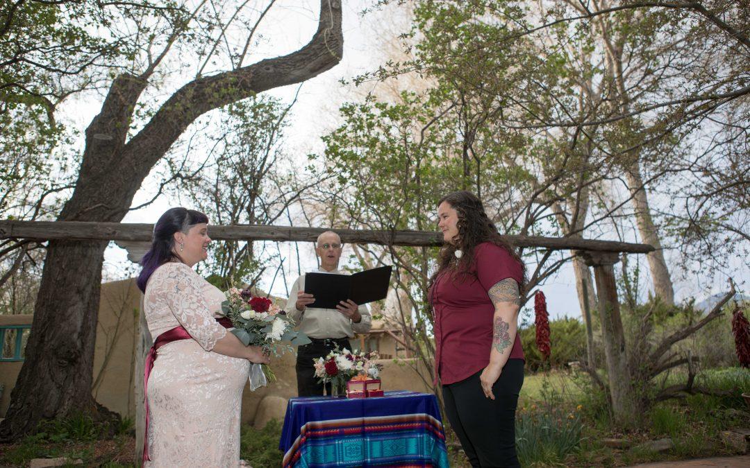 Little Same-Sex Elopement in Taos, NM
