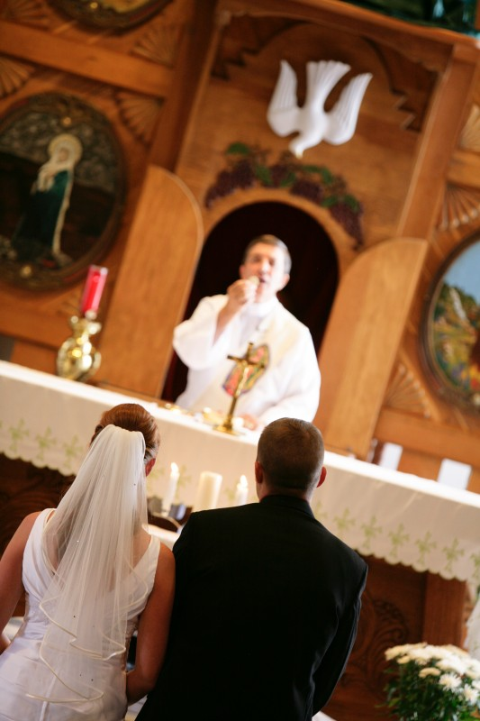 wedding sacrament at ceremony