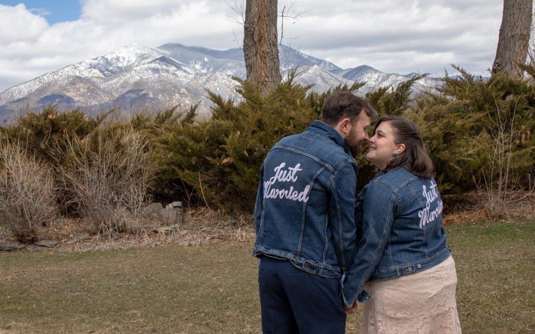 Spring Wedding with Mountain Views