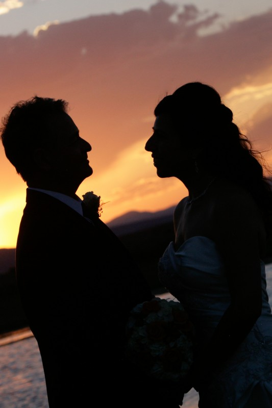 New Mexican wedding sunset