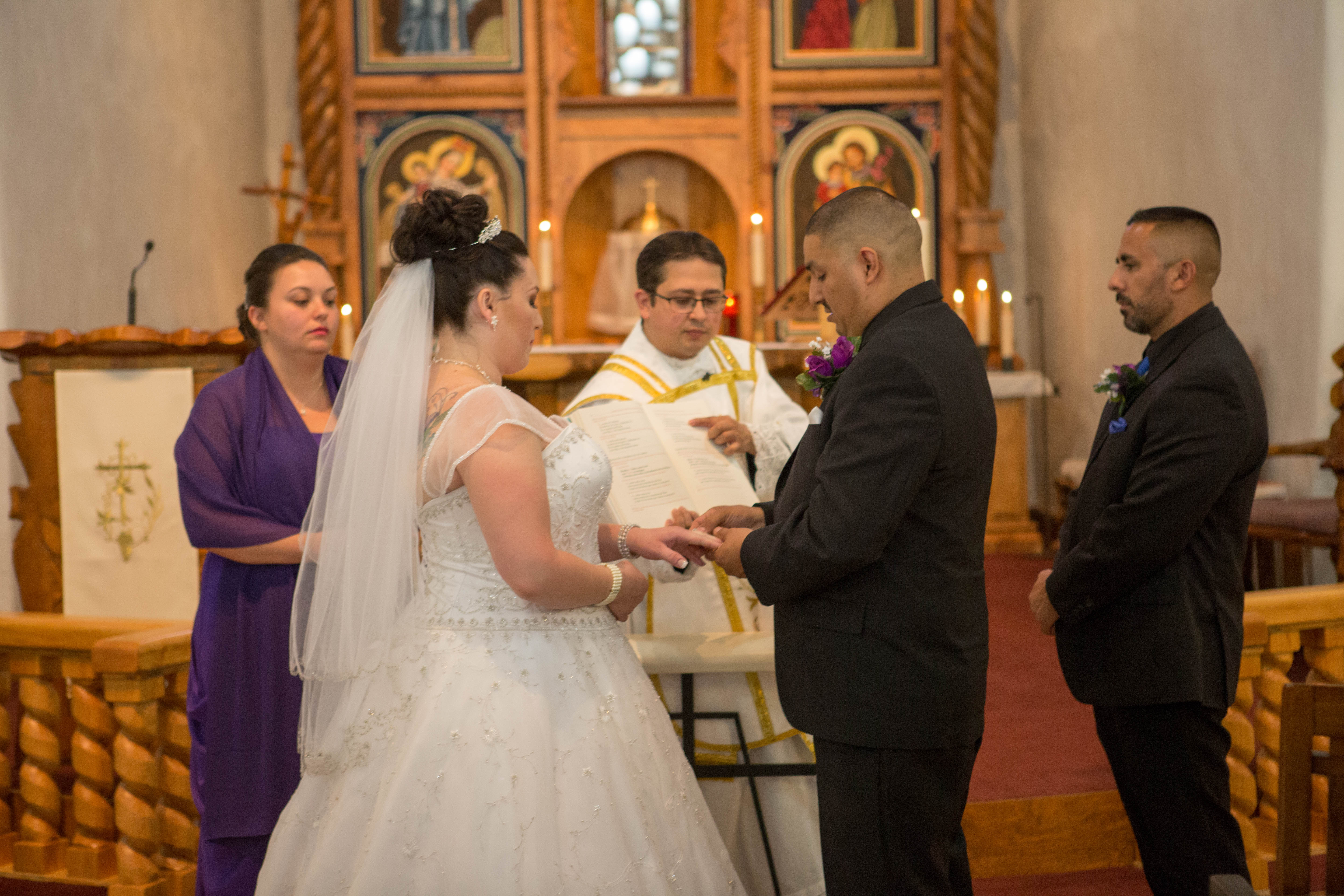 Beautiful Catholic Wedding Ceremony at St. Anthony's in Questa, NM