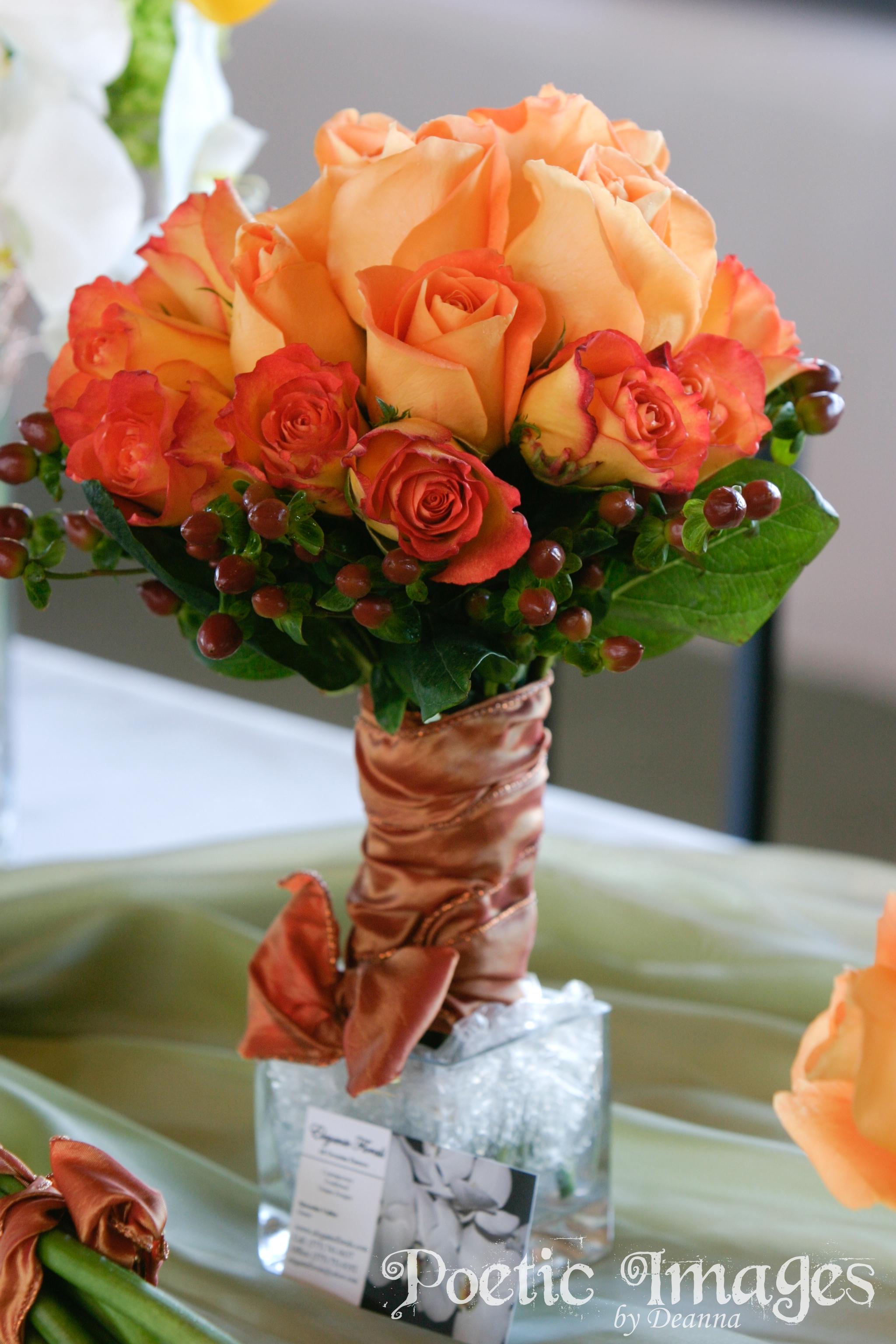 rose bridal bouquet