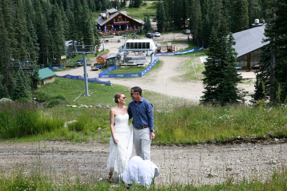 Small Wedding at Taos Ski Valley Waterfall
