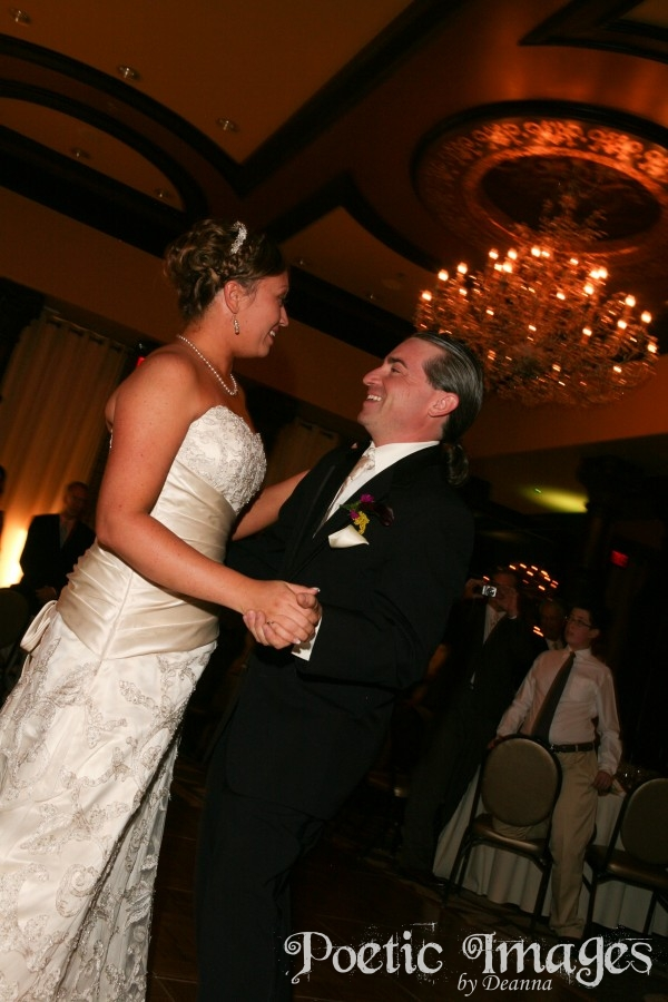 The first dance at wedding reception