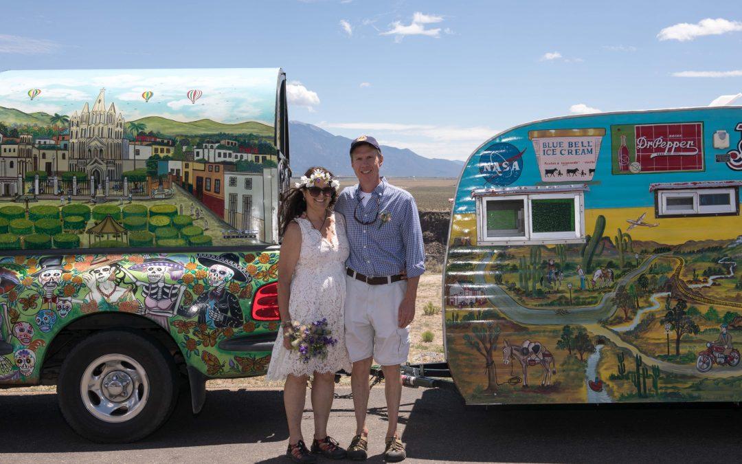 Small Destination Wedding with Rio Grande Gorge Bridge
