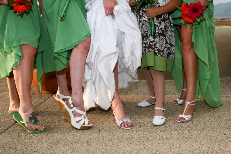bridesmaids shoes and nails