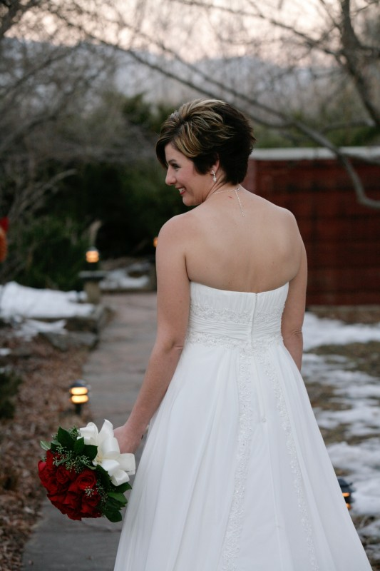 Taos bride in wedding dress