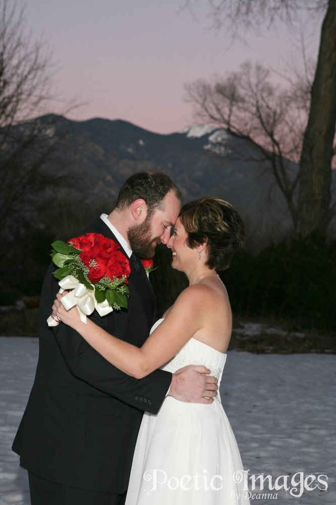 Bride and groom happily ever after in Taos, NM