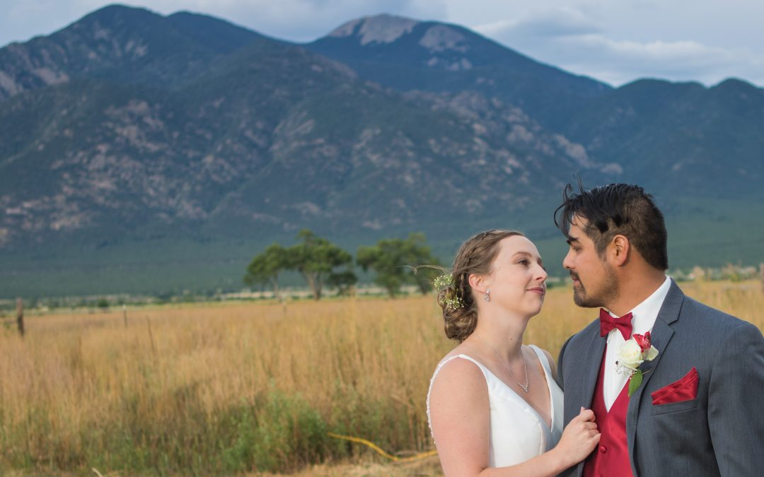Wedding at First Presbyterian Church in Taos, NM