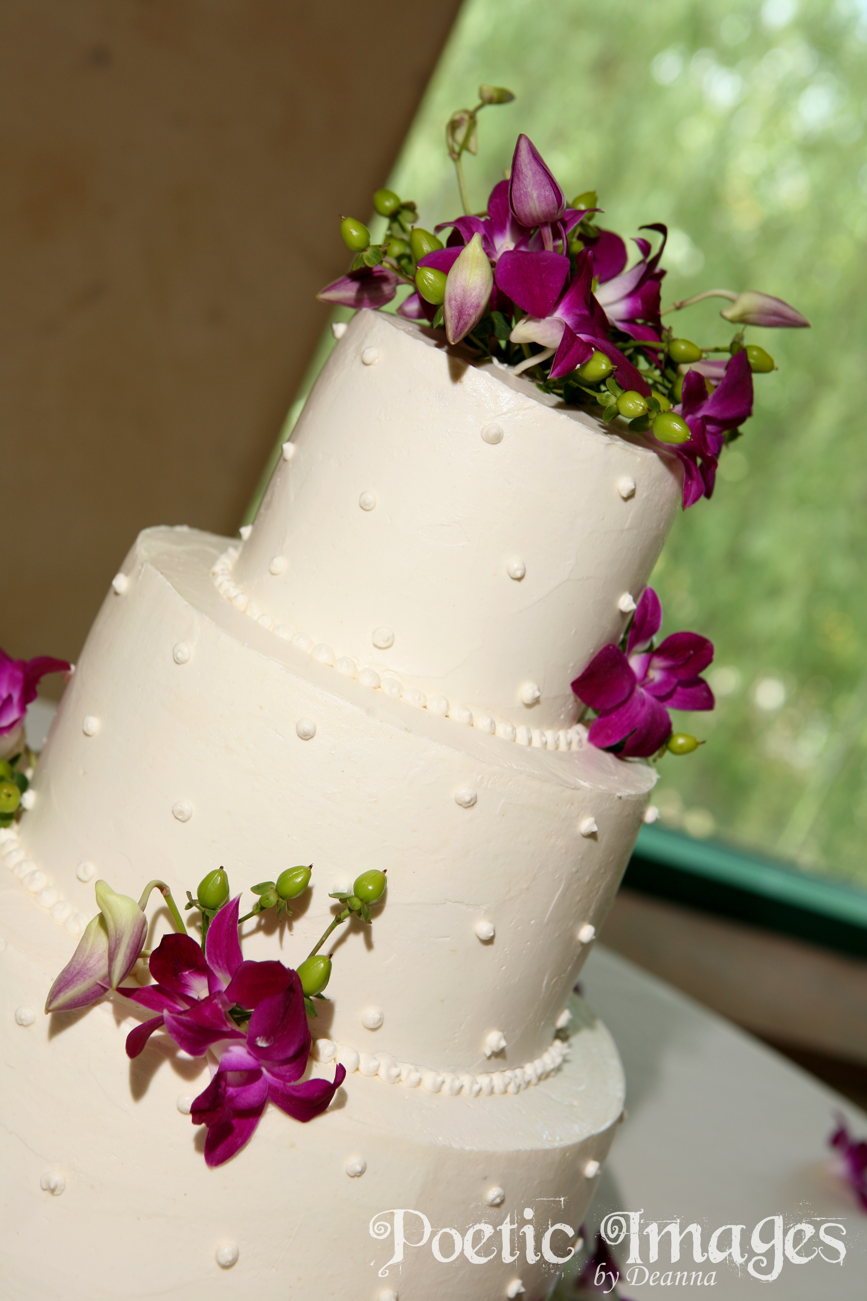 wedding cakes and pastries made in-house