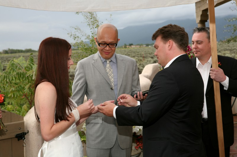 taos mesa wedding ceremony