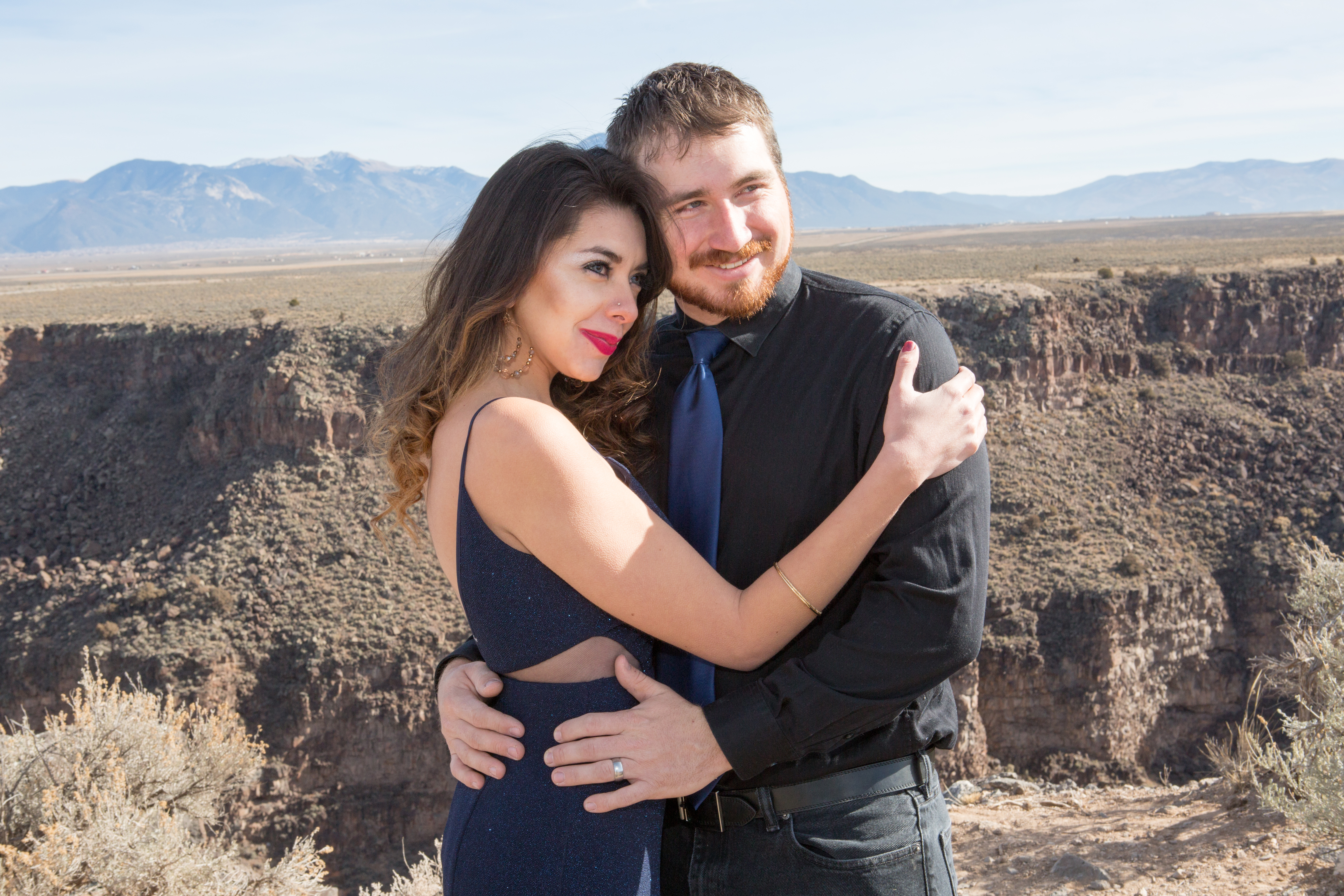 Engagement Shoot on Mesa by Gorge Bridge