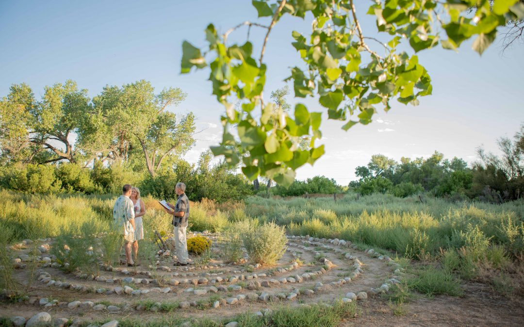 Vow Renewal at Ojo Caliente Labyrinth